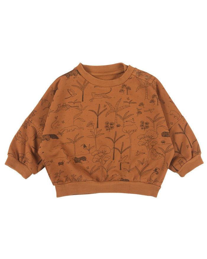 Little red caribou baby girl the story baby sweatshirt in glazed ginger