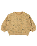 Little red caribou baby girl the story baby sweatshirt in ochre