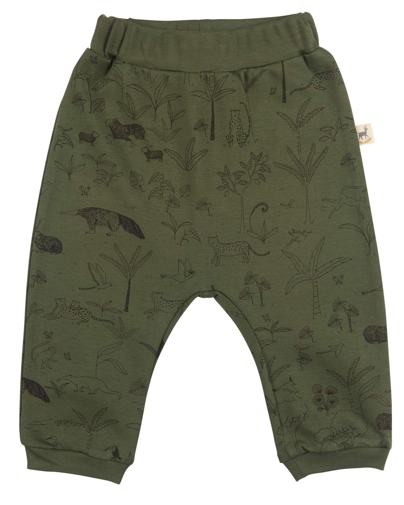 Little red caribou baby girl the story baggy pants in chive