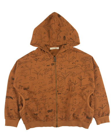Little red caribou girl the story hoodie in glazed ginger