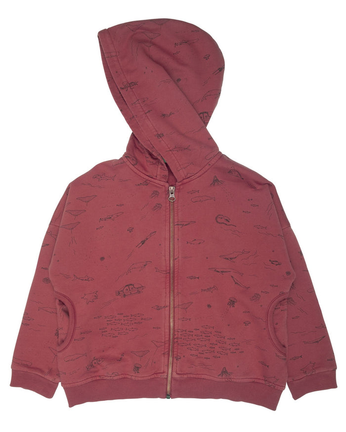 Little red caribou girl the story hoodie in rosewood