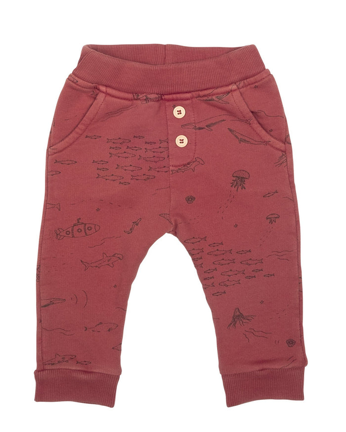 Little red caribou baby girl the story jogger in rosewood