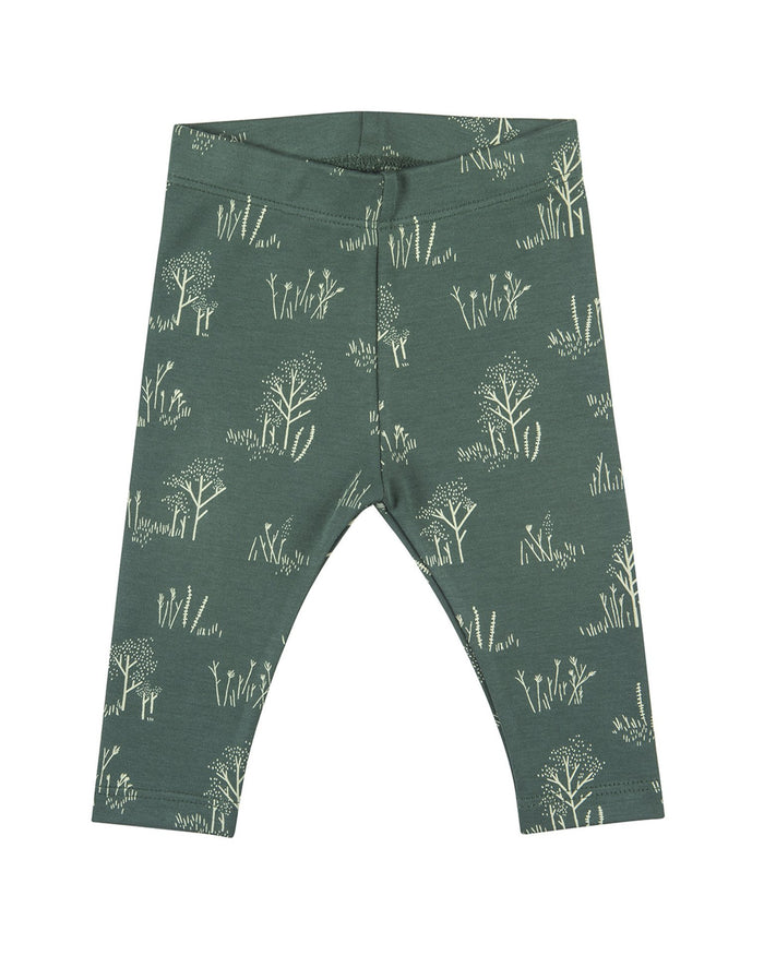 Little red caribou layette the tundra leggings in garden topiary