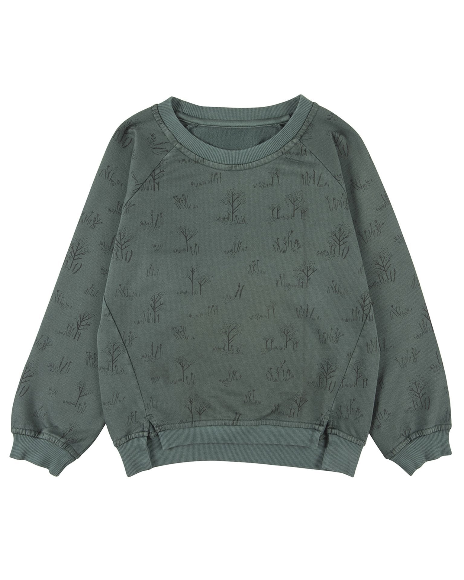 Little red caribou girl the tundra oversized sweatshirt in garden topiary