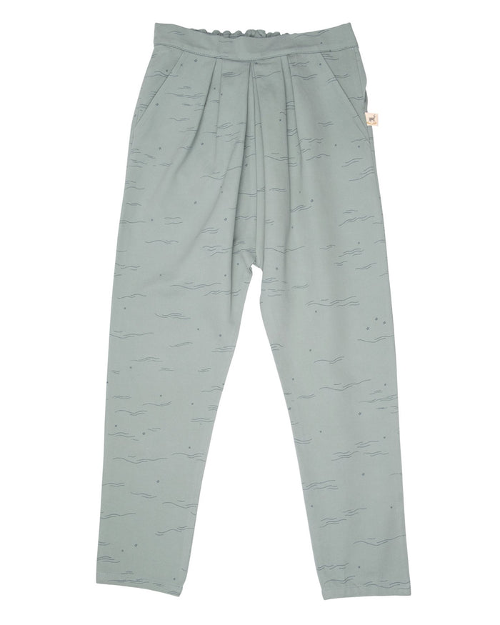 Little red caribou girl tides + stars trousers in chinoise green