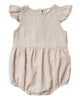 Little rylee + cru baby girl amelia romper in flax