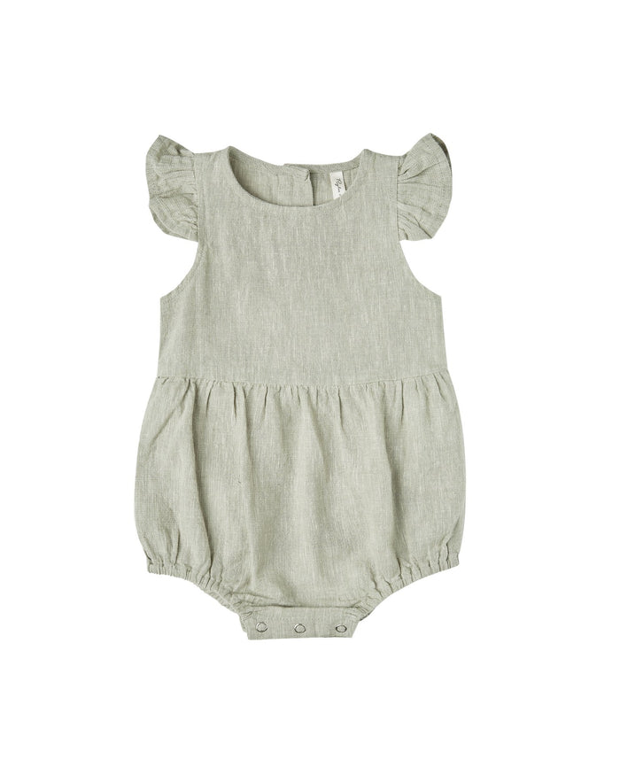 Little rylee + cru baby girl amelia romper in sage