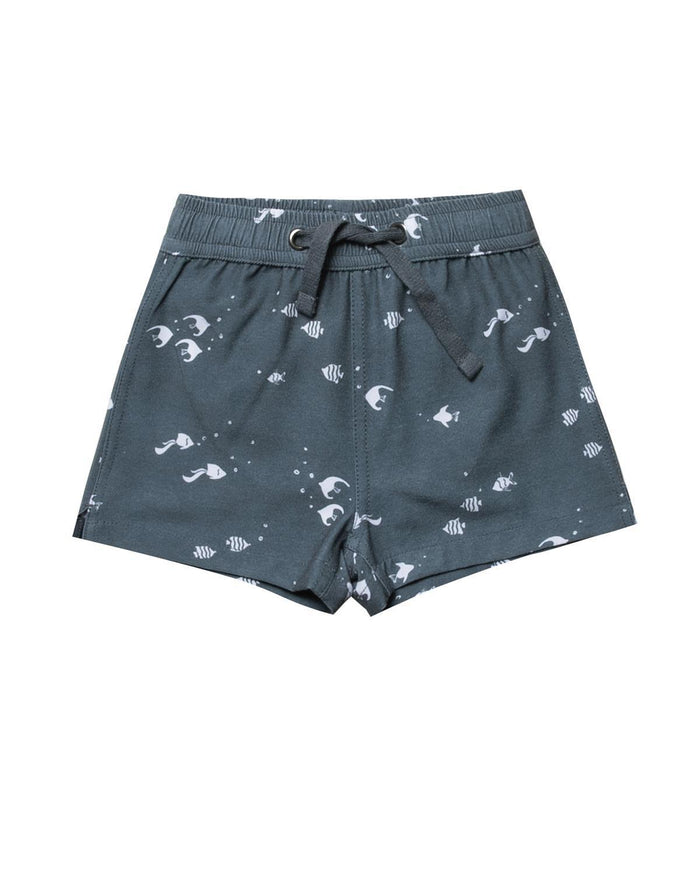 Little rylee + cru boy 2-3 angel fish swim trunk
