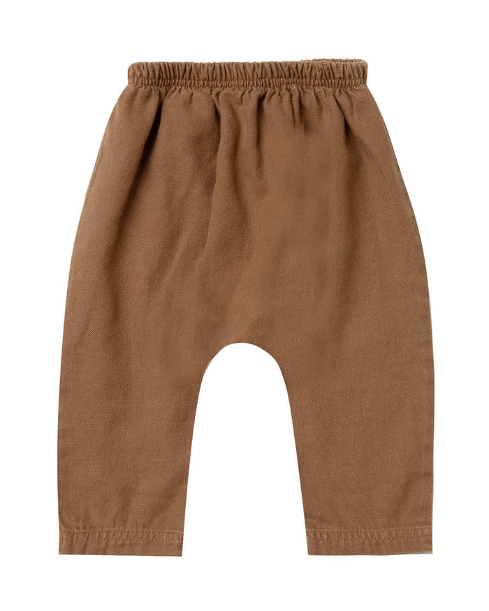 Little rylee + cru baby boy baby baggy harem pant in caramel