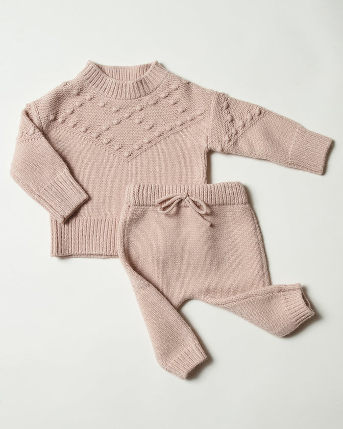 Little rylee + cru baby girl baby gable pant in rose