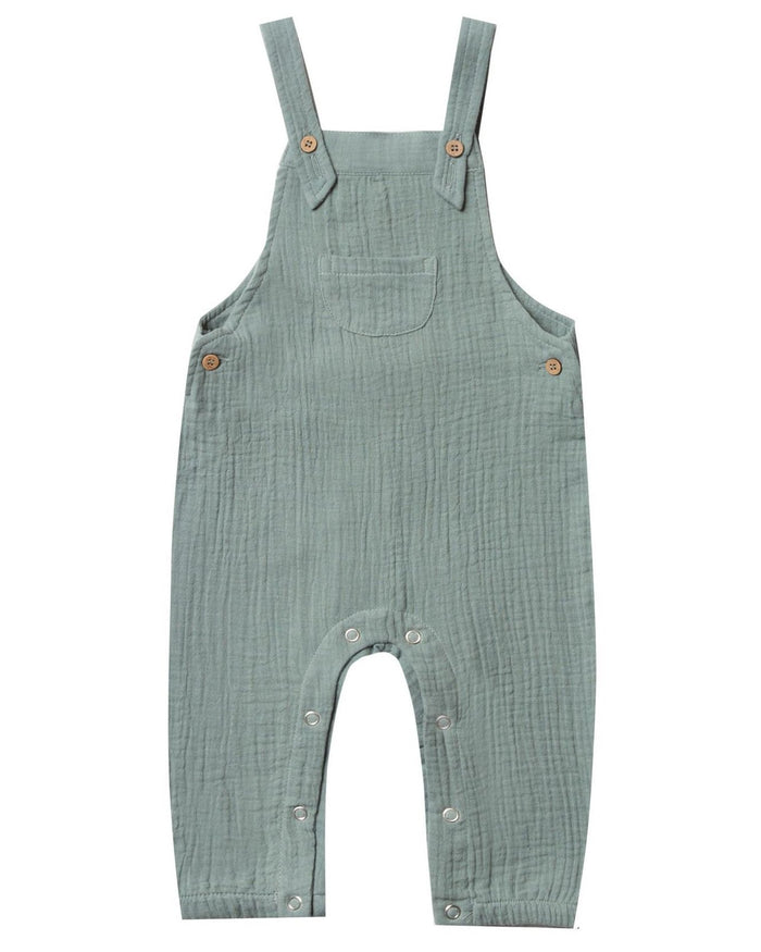 Little rylee + cru baby boy baby overall in sea