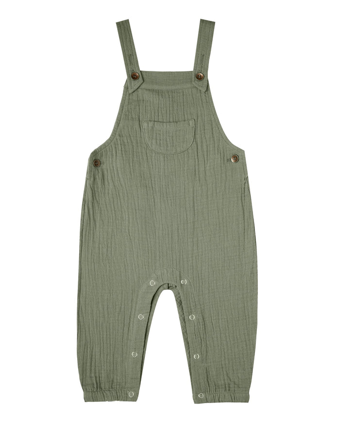 Little rylee + cru baby girl baby overalls in fern
