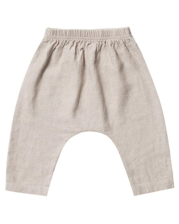 Little rylee + cru baby boy baggy harem pant in flax