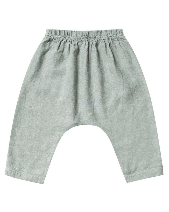 Little rylee + cru baby boy baggy harem pant in seafoam