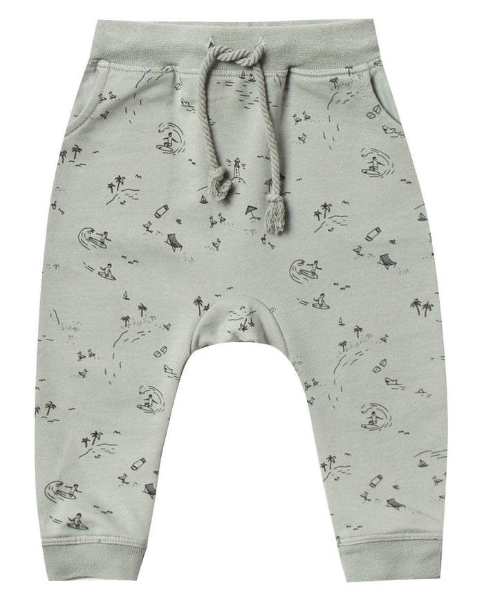 Little rylee + cru baby boy beach town sweatpant in seafoam