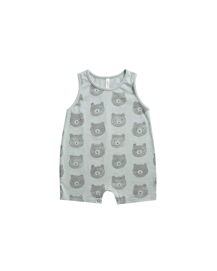 Little rylee + cru baby boy bears sleeveless one-piece