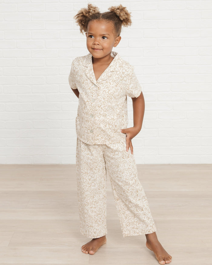 Little rylee + cru girl bedtime pajama set in garden