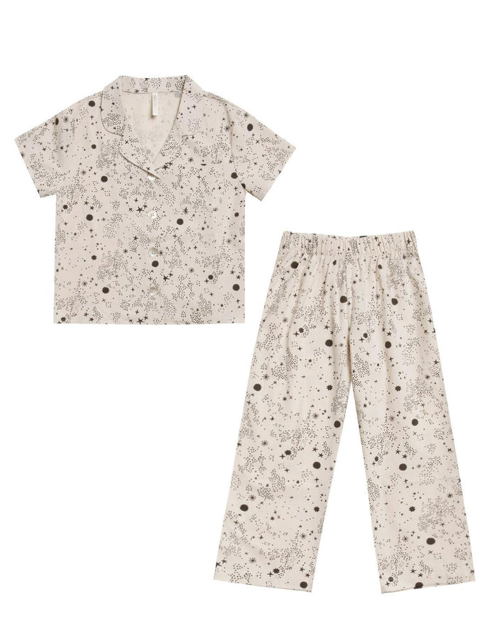 Little rylee + cru girl bedtime pajama set in stardust