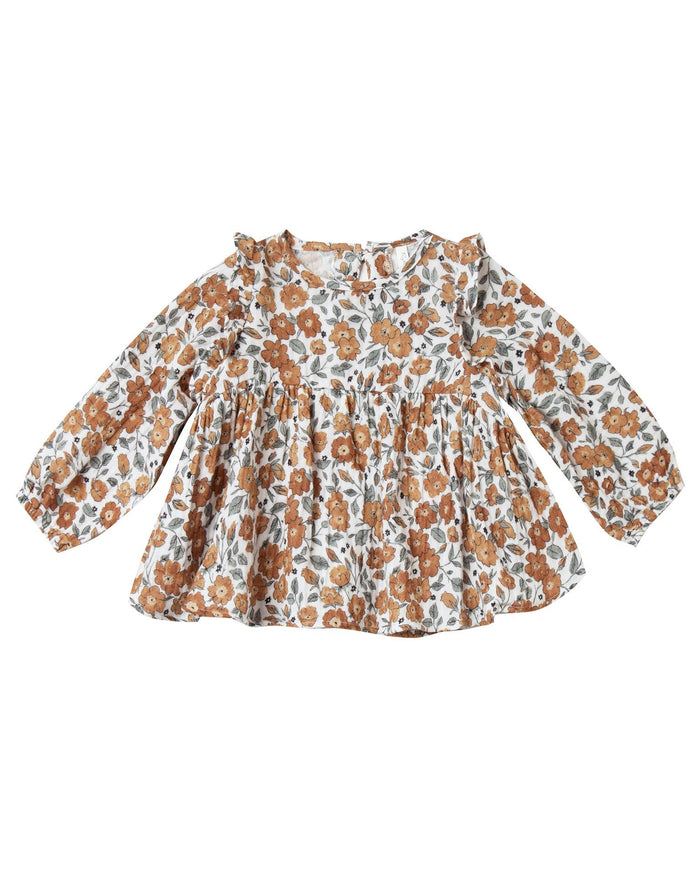 Little rylee + cru baby girl bloom piper blouse