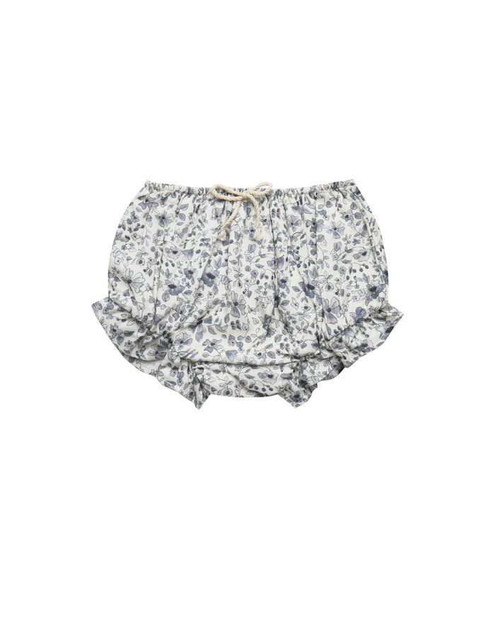 Little rylee + cru baby girl blue floral flutter bloomer