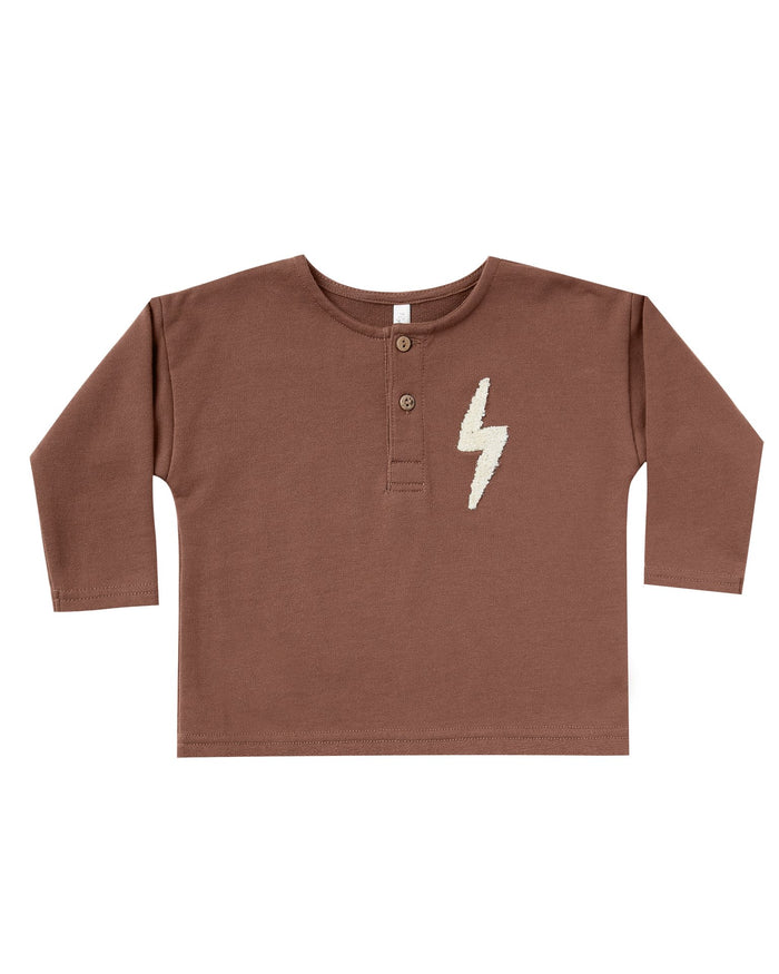 Little rylee + cru baby boy bolt henley in wine