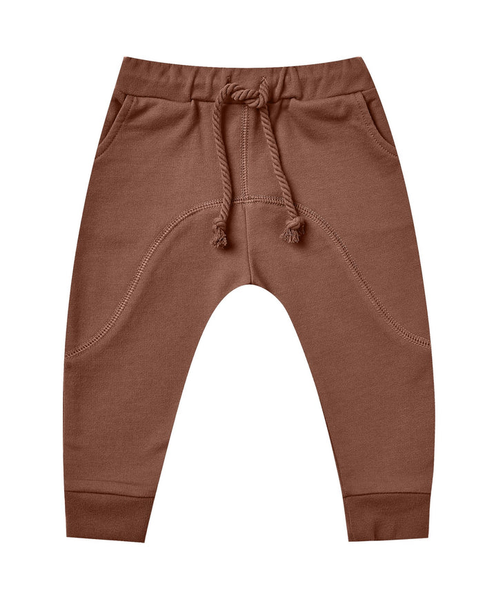 Little rylee + cru baby girl bolt james pant in wine