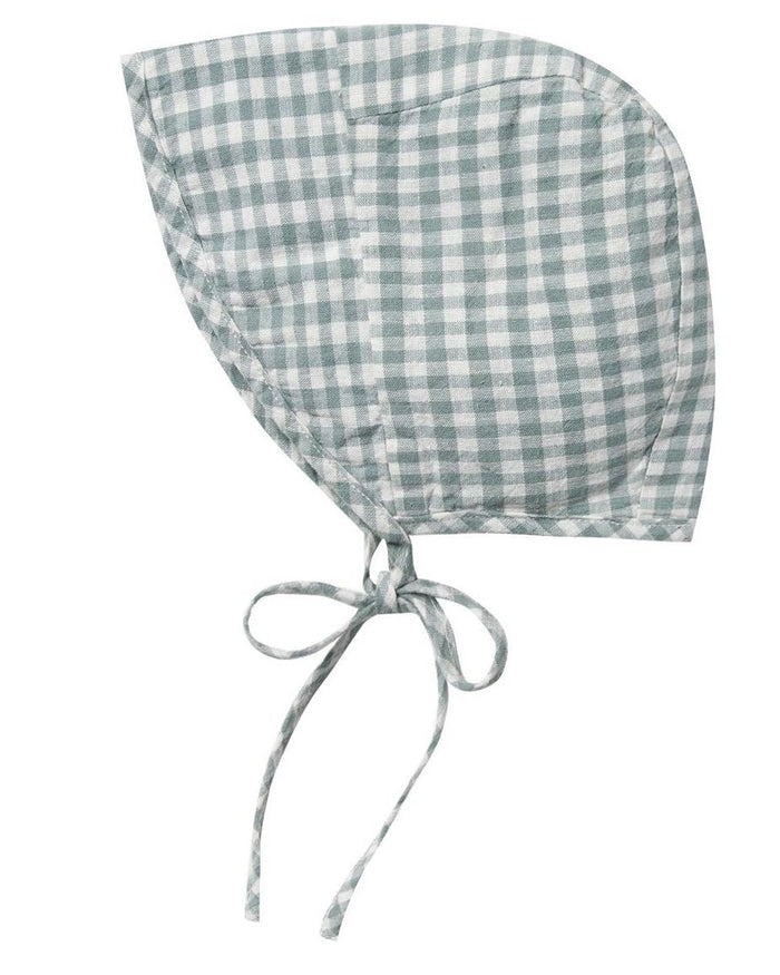 Little rylee + cru baby accessories brimmed bonnet in gingham