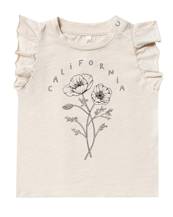 Little rylee + cru baby girl california ruffled tank in natural