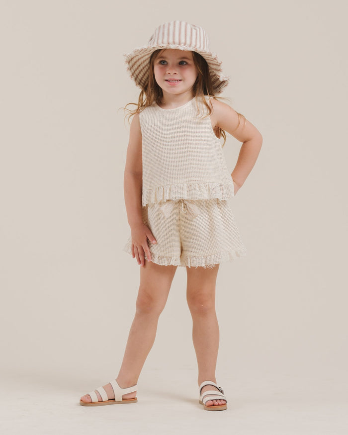 Little rylee + cru girl cardiff ruffle short