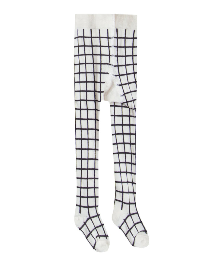 Little rylee + cru accessories check ribbed tights