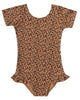 Little rylee + cru girl cheetah leotard in bronze