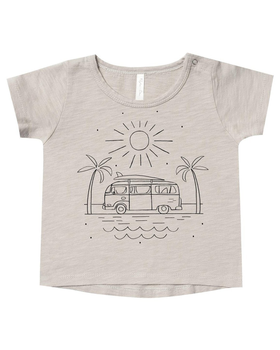 Little rylee + cru baby boy coast basic tee in dove