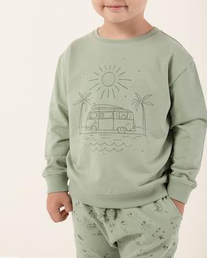 Little rylee + cru baby boy coast sweatshirt in seafoam