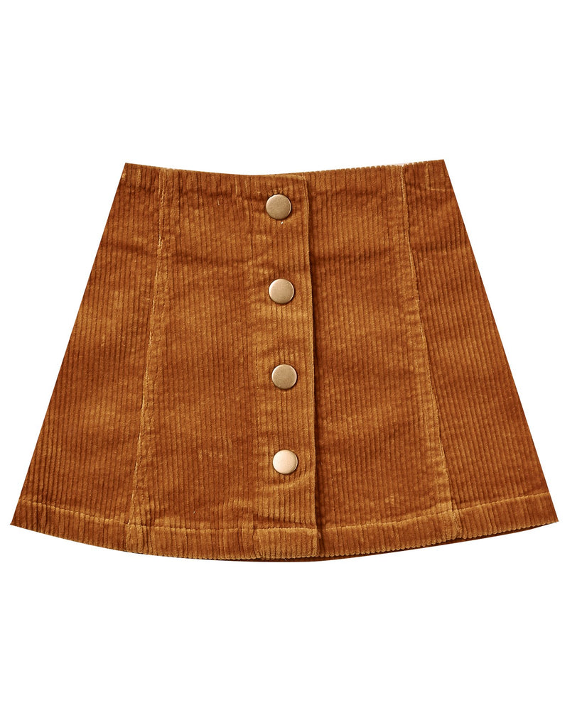 Little rylee + cru girl corduroy mini skirt in cinnamon