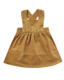 Little rylee + cru baby girl corduroy pinafore in goldenrod