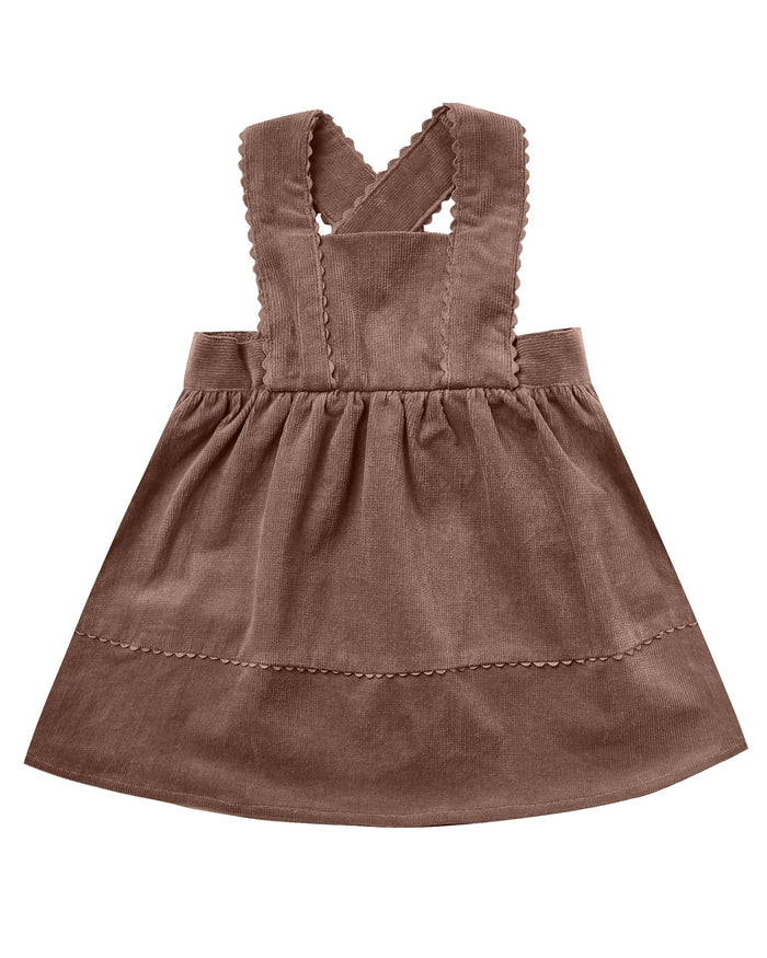 Little rylee + cru baby girl corduroy pinafore in wine