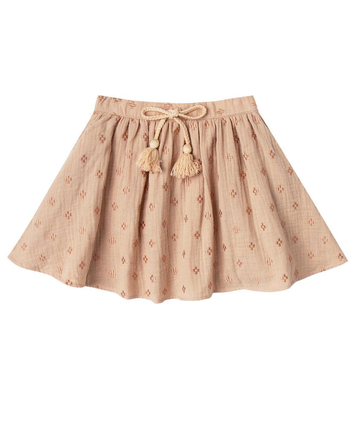 Little rylee + cru girl 2-3 cross embroidered mini skirt