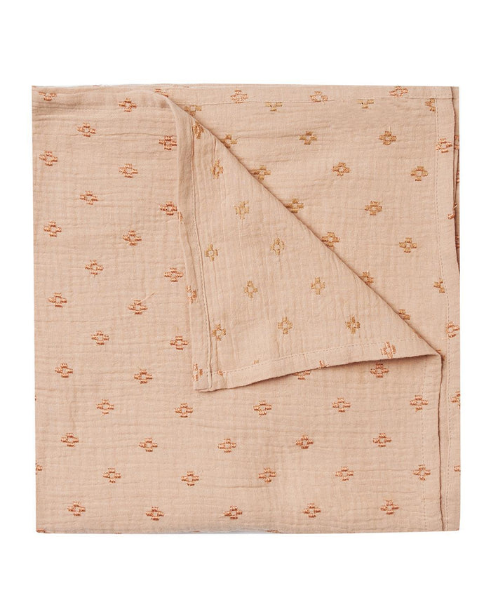 Little rylee + cru baby accessories cross embroidered swaddle