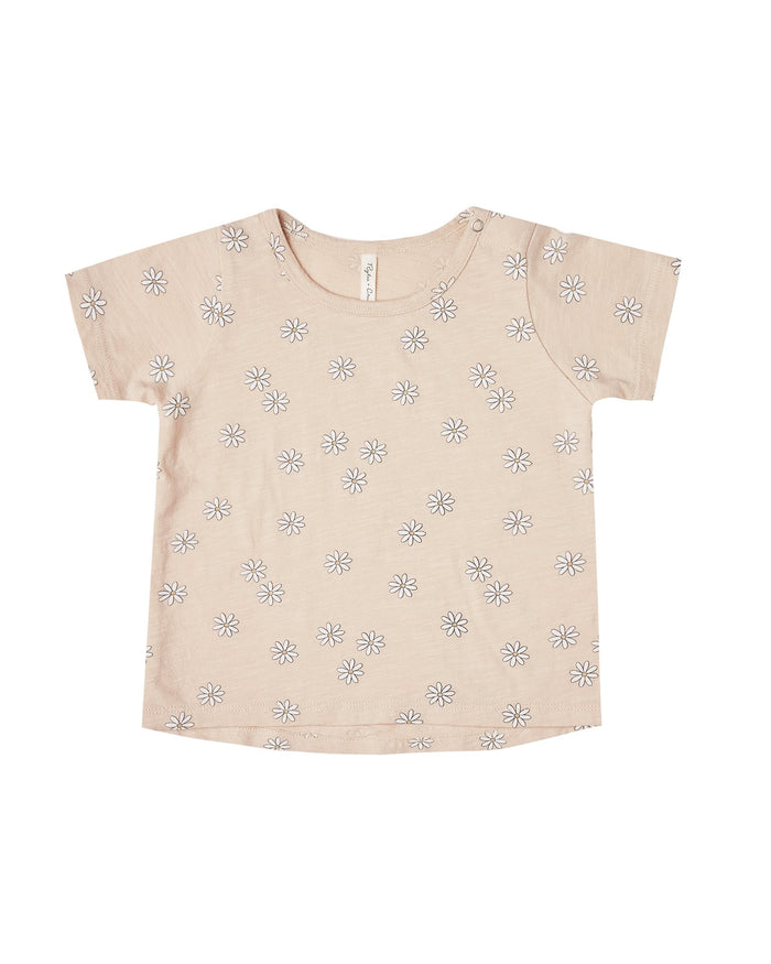 Little rylee + cru girl daisy confetti tee in shell