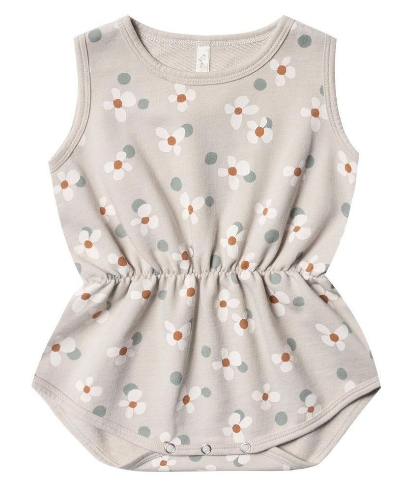 Little rylee + cru baby girl dotty flowers playsuit in dove