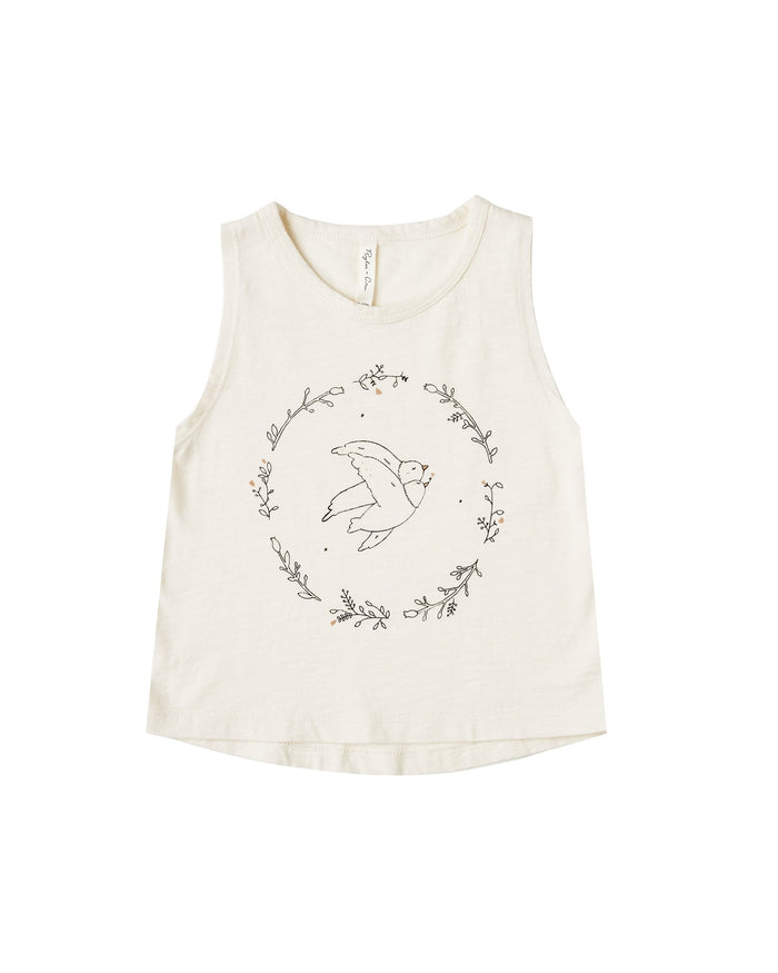 Little rylee + cru girl dove tank in ivory