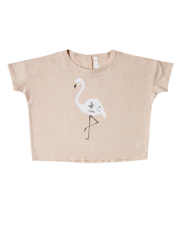 Little rylee + cru girl 2-3 flamingo boxy tee