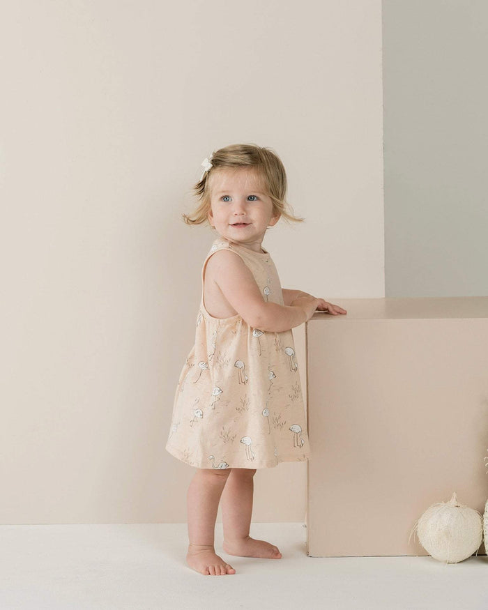 Little rylee + cru girl 0-3 flamingos layla mini dress