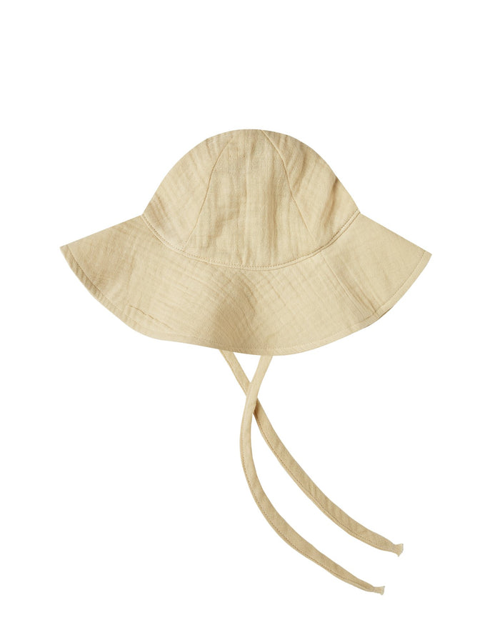 Little rylee + cru baby accessories floppy sun hat in butter