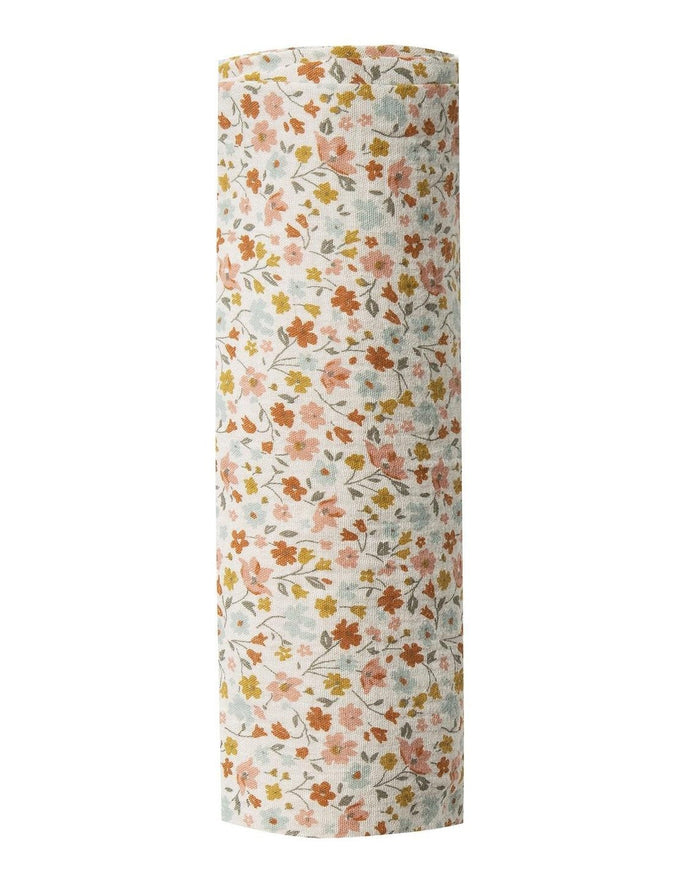 Little rylee + cru baby accessories flower field swaddle in natural