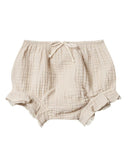 Little rylee + cru baby girl flutter bloomer in natural