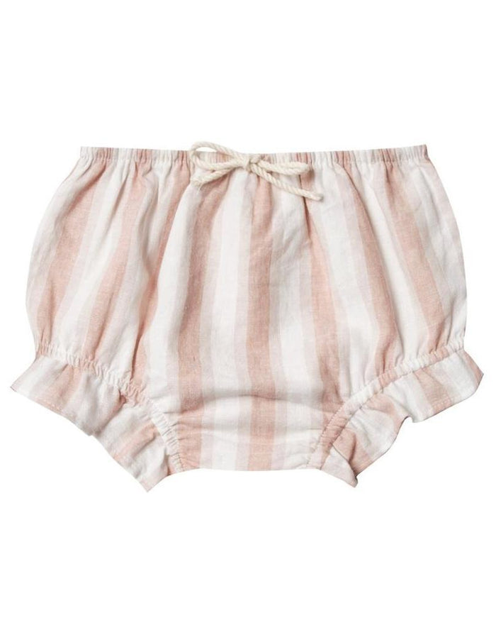 Little rylee + cru baby girl flutter bloomer in petal stripe