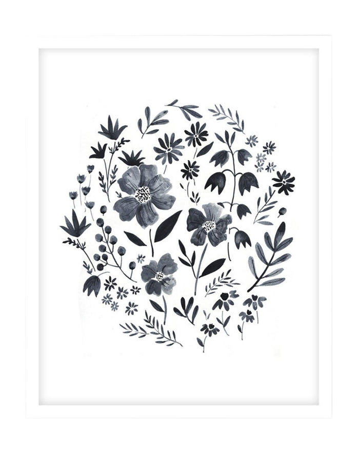 "Little rylee + cru room Garden Grey Print (18"" x 24"")"