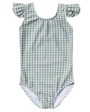 Little rylee + cru baby girl gingham frill onepiece in sea