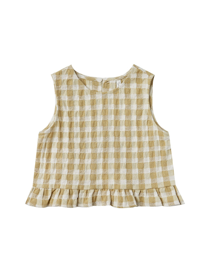 Little rylee + cru girl gingham leonie top
